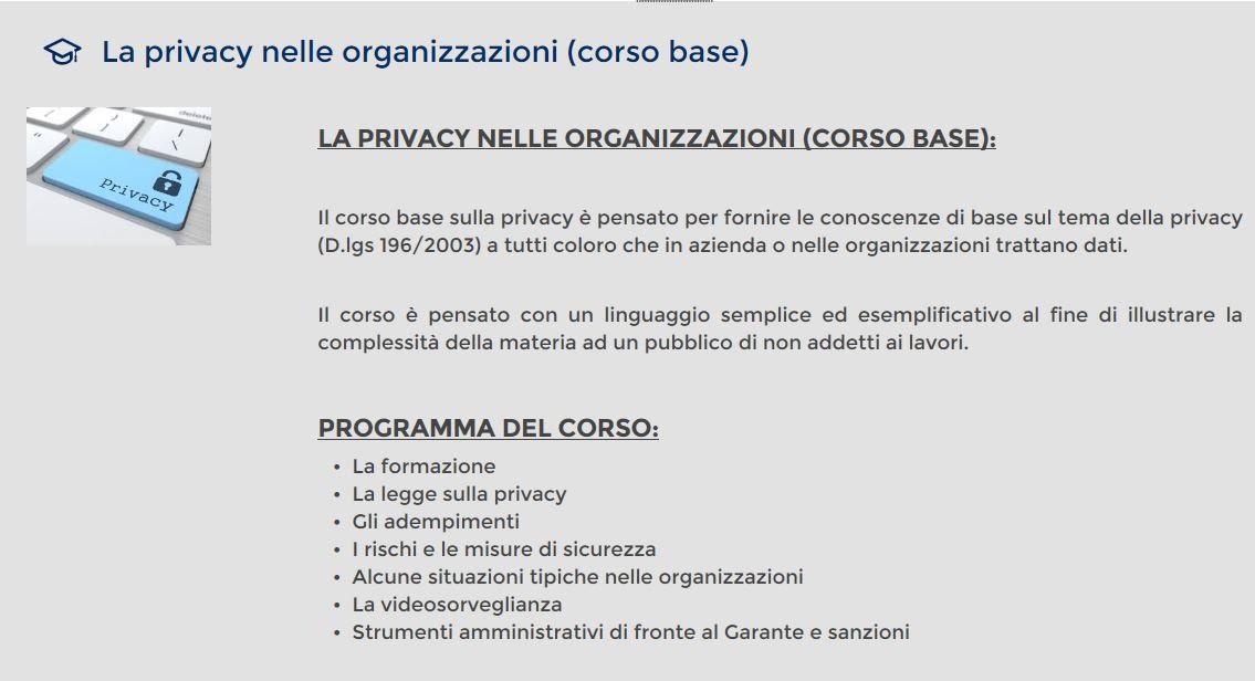 corso privacy gruppo res
